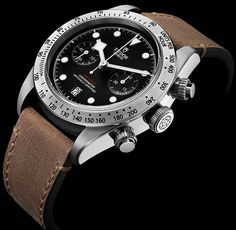 La Cote des Montres : La montre Tudor Heritage Black Bay Chrono - Mélange d'un héritage aquatique avec la fonction reine des circuits, le chronographe