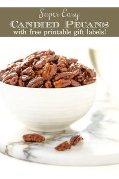 You'll find a zillion ways to use theseEasy Peasy Candied Pecans... a delicious cocktail nibble, fabulous salad topping, awesome hostess gift... #eastcandiedpecans, #candiedpecans, #pecansforsalad via @cafesucrefarine Pecan Recipes, Candy Recipes, Dessert Recipes, Fall Desserts, Fall Recipes, Yummy Snacks, Yummy Food, Gourmet Ice Cream, Candied Pecans