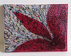 Wandbild Collage 30x40 cm Recycling Kunst auf von fantasmania