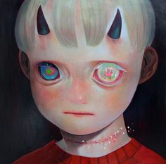 """神様の行方2"" Whereabouts of God 22012727mm×727mmoil on canvas個人蔵 Private collection  hikari shimoda