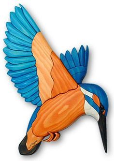 Kingfisher Intarsia Plan