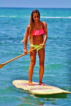 Paddle boarding!! This is so fun!
