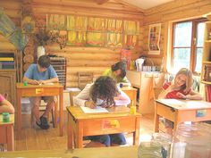 love this waldorf school room!