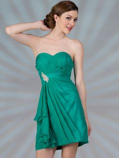 Pleated Cocktail Dress, style# C1291.  Available in jade, magenta, and tangerine.  Get yours today @ www.SungBoutiqueLA.com!