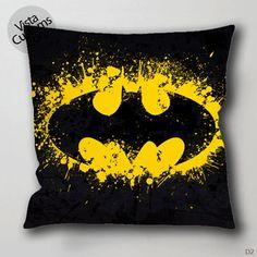 Batman Splash Balack and Yellow Pillow Case