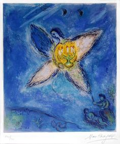 27 Dec. 11. Angel With Candlestick. Marc Chagall.