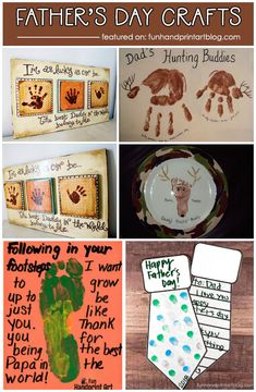 Father's Day Handprint Crafts & Footprint Gifts for Dad: Fun list of easy last minute handprint and footprint Father's Day art and craft projects to make with kids. Fathers Day Art, Fathers Day Crafts, Trending Christmas Gifts, Christmas Gift For Dad, Diy Father's Day Gifts Easy, Gifts For Dad, Diy Gifts, Toddler Crafts, Preschool Crafts