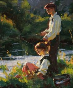 Summer - Mike Malm-An Evening on the River-2008-sold