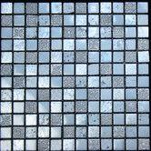 "Found it at Wayfair - 1"" x 1"" Stone Metal Tile in Blue / Grey"
