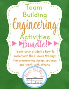 This packet is full of team building engineering projects. Each project has a…
