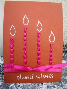 Diwali Ideas - Cards, Crafts, Decor, DIY and Party Ideas - Archana Tewari - HotelsPedi Handmade Diwali Greeting Cards, Diwali Cards, Diwali Greetings, Diwali Wishes, Homemade Greeting Cards, Homemade Cards, Happy Diwali, Diwali Diy, Diwali Gifts