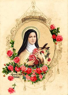 Therese of Lisieux ~ The Little Flower Catholic Art, Catholic Saints, Religious Art, Sainte Therese De Lisieux, Ste Therese, Blessed Mother Mary, Blessed Virgin Mary, St Pio Of Pietrelcina, Vintage Holy Cards