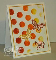 Stampin' Up! Dots & Stripes Decorative Mask & Papillon Potpourri. Debbie Henderson, Debbie's Designs.