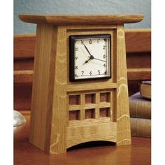 Arts and Crafts Shelf Clock - Paper Plan