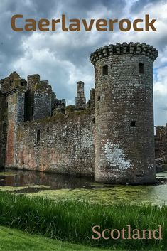 Caerlaverock Castle - one of most intriguing monuments in Scotland. The fort built in the century has a triangular shape! - More photos and a video in the post: : Scotland Destinations, Scotland Travel Guide, Ireland Travel, Scotland Trip, Travel Europe, Scotland Castles, Scottish Castles, British Travel, European Travel