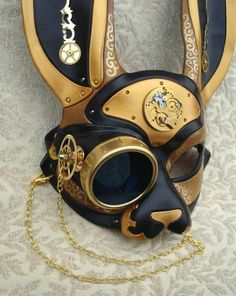 rikkysworld:  Clockpunk and Steampunk rabbit masks by merimask...