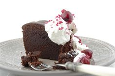 Chocolate Cherry Pound Cake with Mascarpone Whipped Cream Recipe ...