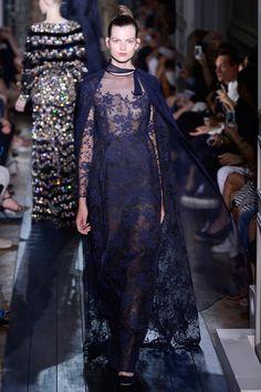 Valentino fall 2012, navy blue lace evening dress.  Vogue China: Simply Elegant | Tom & Lorenzo