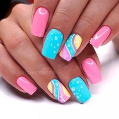 Try some of these designs and give your nails a quick makeover, gallery of unique nail art designs for any season. The best images and creative ideas for your nails. Nagellack Design, Nagellack Trends, Trendy Nails, Cute Nails, My Nails, Funky Nails, Popular Nail Designs, Best Nail Art Designs, Newest Nail Designs