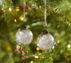 Silver Mercury Glass Ball Ornaments - Set of 12 | Pottery Barn