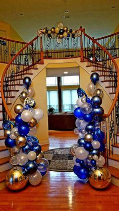 Pin By Christine Maclaughlin Walker On Unique Event Decor Amp Balloons Balloon Columns, Balloon Arch, Balloon Garland, Balloon Decorations, Baby Shower Decorations, Deco Ballon, Balloon Display, Prom Themes, Balloon Bouquet