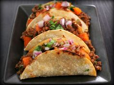 Beef and Potato Tacos Recipe