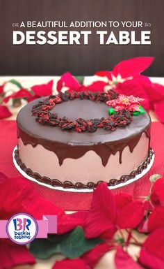 Make a statement this holiday season with our simple, yet sophisticated Ganache Poinsettia cake. Pick up one for your next celebration. It's a centerpiece that's sure to wow all your guests! Christmas Desserts, Christmas Treats, Christmas Foods, Christmas Cakes, Christmas 2016, Cake Cookies, Cupcake Cakes, Cupcakes, Gorgeous Cakes