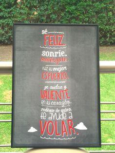Sé feliz. Poster Phraseando