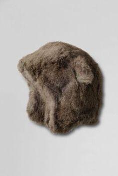 Kids' Fur Bear Hat from Lands' End