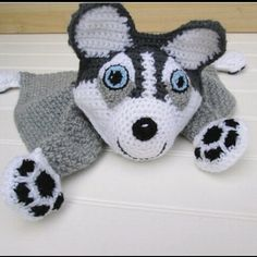 Crochet Husky Blankie link in bio #husky #crochetblanket #crochet #crochetdoll #stuffedanimal #stuffeddoll #stuffedtoy #amigurumidoll #amigurumi #babyshower #babyblanket #babyshowergift #birthdaygift #Christmasgift #gift #crochetdog #gray by sugarnspicecreations