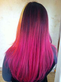 Elumen color zoom model pink ombre