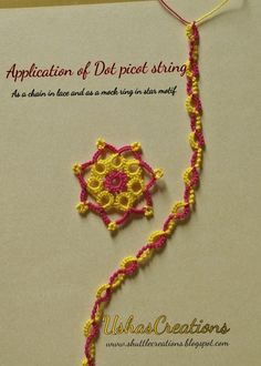 Craft Projects, Projects To Try, Tatting Patterns, Exotic, Crochet Necklace, Fiber, Weaving, Display, Knitting