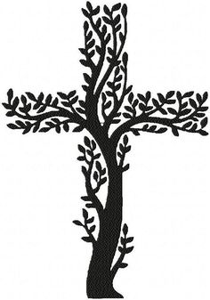 Machine Embroidery Design Tree Cross by BlingSassSparkle on Etsy Dna Drawing, Cross Drawing, Lion Drawing, Cross Tattoo Designs, Cross Designs, Sewing Machine Embroidery, Embroidery Patterns, Christian Drawings, Cross Tree