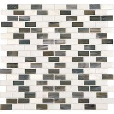 Northern Lights Mixed Material Mosaic Square Indoor/Outdoor Wall Tile (Common: 12-in x 12-in; Actual: 11.87-in x 12.62-in)