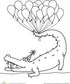 Little Dinosaur and Happy Birthday coloring page for kids ...