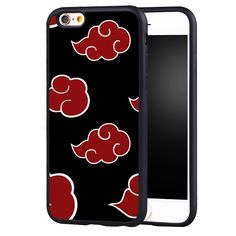 Naruto Akatsuki Clan Cloud Symbol Printed Soft TPU Skin Mobile Phone Cases For iPhone 6 6S Plus SE 5 5S 5C 4 4S Back Shell Cover