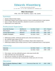 ButtonDown One Of  Free Resume Templates From HloomCom