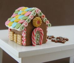 Dollhouse Miniature Gingerbread House - 1:12 Scale Christmas Specials