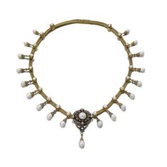 Natural pearl and diamond necklace, mid 19th century   Lot   Sotheby's