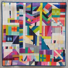 Nydia Kehnle @nydiak on Instagram 1st place improv quilt at 2015 quiltcon. Photograph by Lauren Hunt