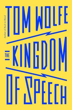 the kingdom of speech book cover design  The use of colours in this is really great. The typography comes off the paper. They use opposite colors so the image really pops in your face. I don't know if these colors are actually opposite from each other  but that's how I see it (because I'm colorblind).