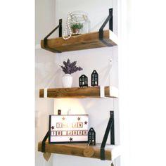 Stoere robuuste plankdragers die geschikt om onze oude houten balken als plank aan de muur te bevestigen. Ze als geheel te koop (plankdragers met balk op maat) maar je kan ook de plankdragers los als set (2 stuks) bestellen.