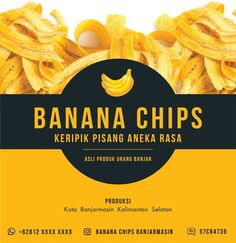 Banana Chip Chip Packaging, Packaging Snack, Packaging Stickers, Bakery Packaging, Food Packaging Design, Coffee Packaging, Food Poster Design, Food Logo Design, Logo Food