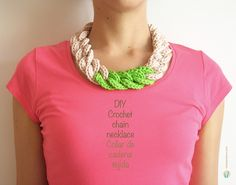 Ravelry: Crochet chain necklace pattern by ChabeGS...........free pattern