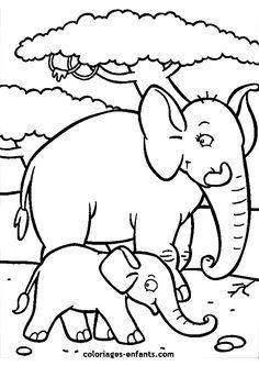zoo activités maternelle | DIBUJOS PARA IMPRIMIR: :prefix Elefantes De La Suerte