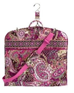 Garment Bag in Very Berry Paisley