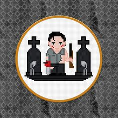Evil Dead / Army of Darkness Cross Stitch PDF by pixelpowerdesign, $4.00