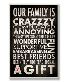 'Our Family' Wall Sign