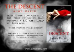 The Descent (The Taker by Alma Katsu-Promotion and Giveaway - The Reading Cafe The Descent, Personal Library, Do Love, Book Lovers, Books To Read, Giveaway, Promotion, Novels, Fiction