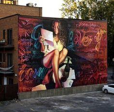 Street art stickers vinyls 16 ideas for 2019 Murals Street Art, 3d Street Art, Graffiti Art, Urban Street Art, Amazing Street Art, Street Art Graffiti, Mural Art, Street Artists, Pop Art